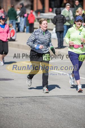 Finish Area/First Loop - 2013 Lansing Marathon & Half