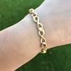 Vintage French Ruby & Diamond Serpent Bracelet 17