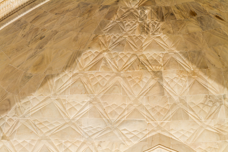 Details of the Inside Of The Curved Entrance Feature At The Taj Mahal, Agra, India