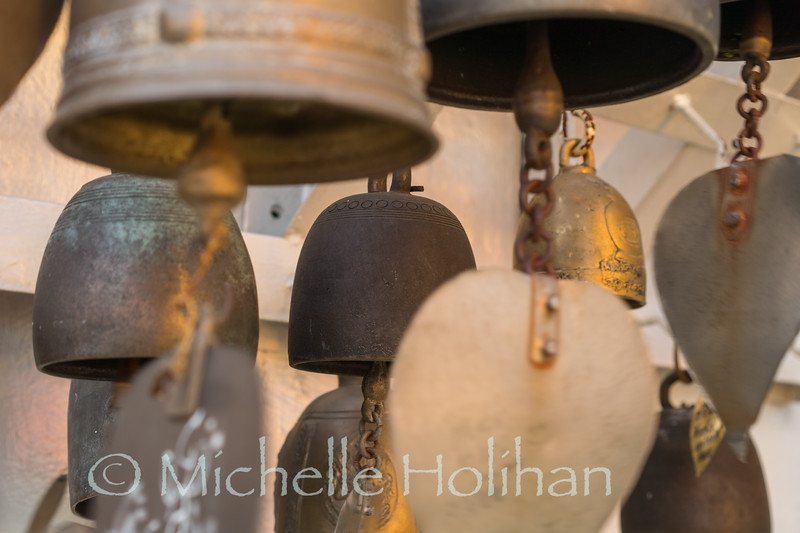 Prayer bells at the Golden Mount Temple in Bangkok, Thailand