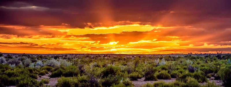 Sunset at Coward Springs