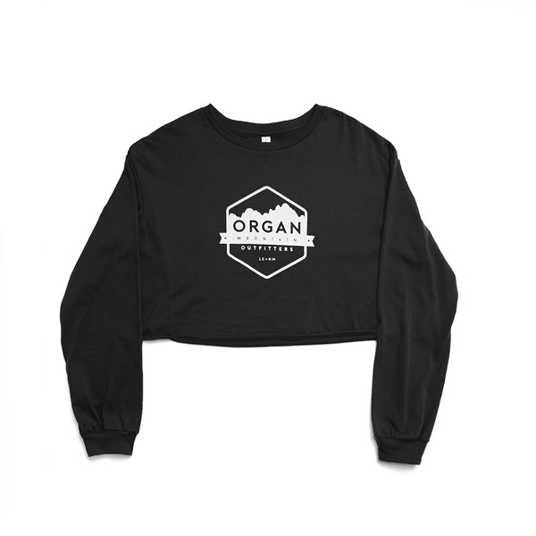 Organ Mountain Outfitters - Outdoor Apparel - Womens T-Shirt - Classic Cropped Long Sleeve Tee - Black.jpg