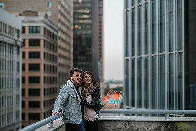 Eric + Erica's Downtown Houston Engagement