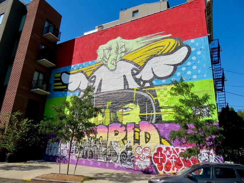 DFace collab with Kaspersky Lab - Mural - Save the world Greenpoint Brooklyn
