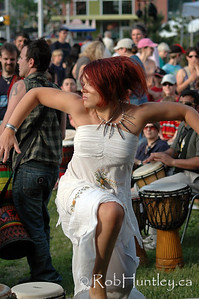 Interpretive dancer at the Westfest Tam Tam. Westfest is an annual event in the community of Westboro in Ottawa, Ontario.  © Rob Huntley