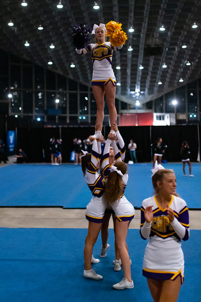 Broughton cheerleading Pre-States. November 16, 2019. D4S_1628