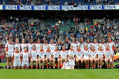 The Armagh Team who played Cork in the All Ireland Ladies Football Championship Finals at Croke Park on Sunday. 06W40N251
