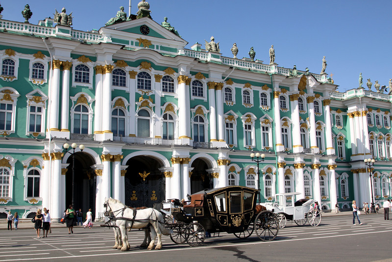 The entrance to the interior courtyard of the Winter Palace,