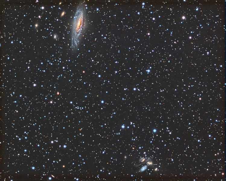 NGC7331 Deer Lick and Stephan's Quintet