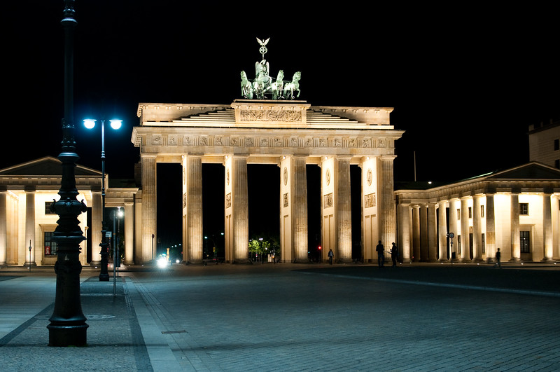 Brandenburg Gate Nighttime View