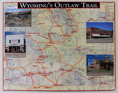 A cool map of Wyoming's Outlaw Trail