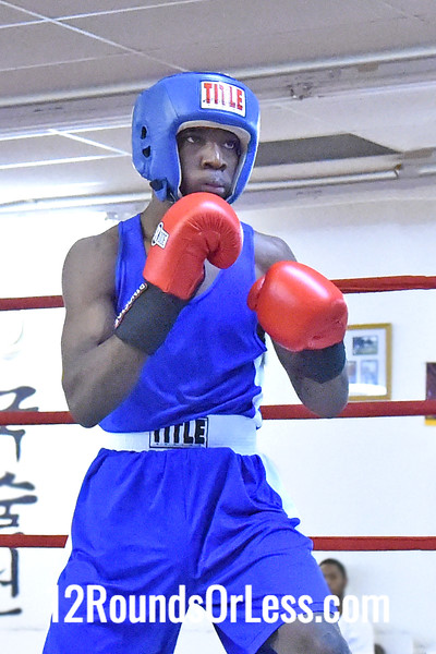 Bout 1 Kemp Tarver, Red Gloves, Blue Steel, Akron -vs- Tarrell Spencer, Blue Gloves, West Virginia