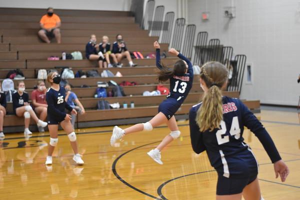 7th grade volleyball vs. Elkhorn Ridge