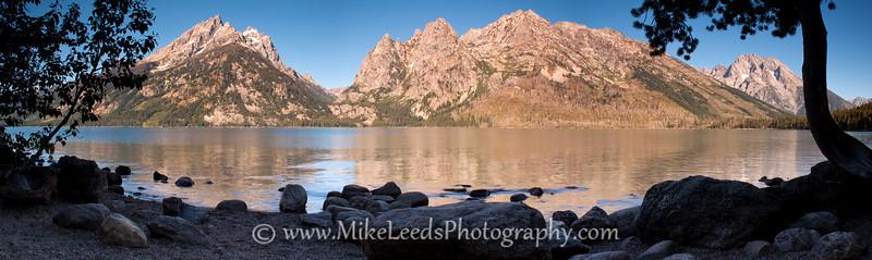 Jenny Lake and the Teton Mountain Range in Wyoming.
