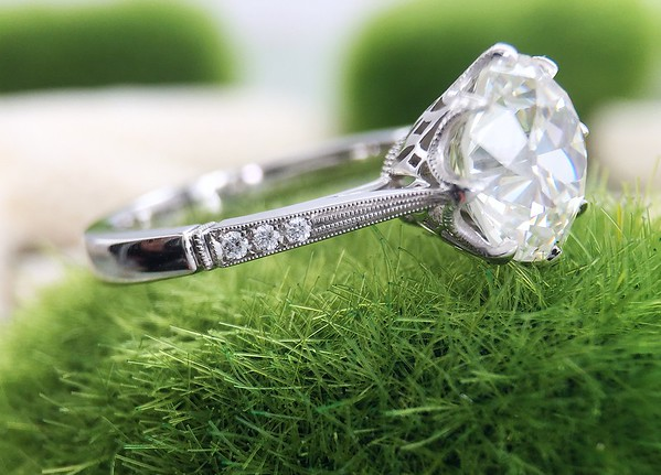 """The """"Alexandria"""" Solitaire - Featuring a 2.59ct Old European Cut Diamond"""