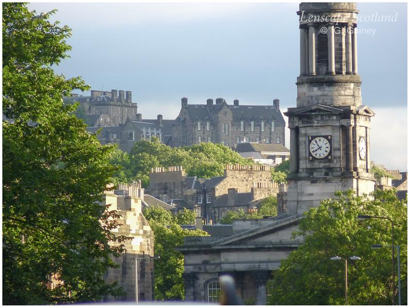 Broughton Saint Mary's Church and Edinburgh Castle