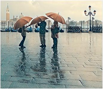 Venice under Rain Fantasy