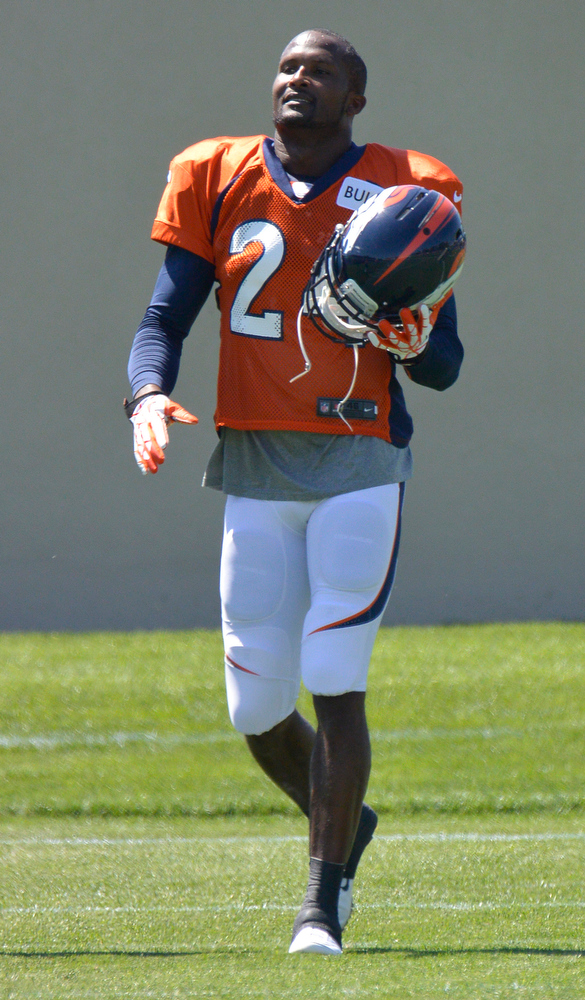 . Denver Broncos CB Champ Bailey in drills during training camp July 31, 2013 at Dove Valley. (Photo By John Leyba/The Denver Post)