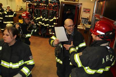 Firefighter Night Training, American Hose Company, Tamaqua (2-26-2013)