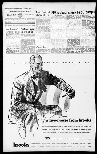 Daily Trojan, Vol. 36, No. 100, April 13, 1945