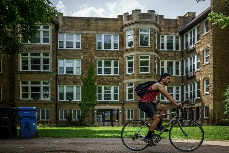 Rogers Park Bicyclist
