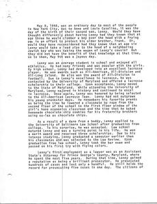 1983 Trials & Tribulations of Lenny Casalino