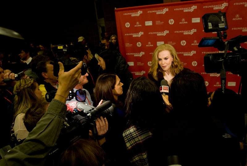 ". Kim Raff  |  The Salt Lake Tribune Actress Nicole Kidman gives interviews on the red carpet for the premiere screening of ""Stoker\"" at the Eccles Theatre during the Sundance Film Festival in Park City on January 20, 2013."