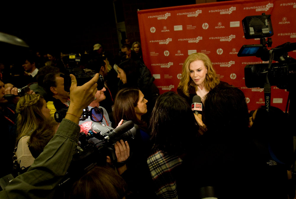 Description of . Kim Raff  |  The Salt Lake Tribune Actress Nicole Kidman gives interviews on the red carpet for the premiere screening of