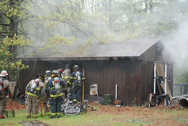 Pelham NH  shed fire 4-10-07