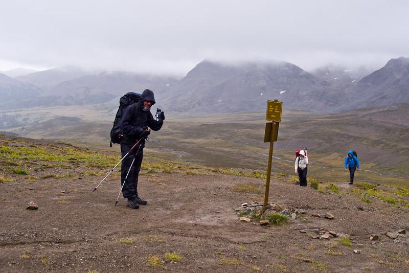 Hikers at Big Shovel Pass, Skyline Trail - Jasper National Park