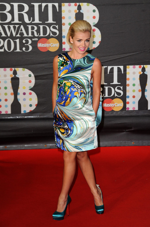 . Katherine Jenkins attends the Brit Awards 2013 at the 02 Arena on February 20, 2013 in London, England.  (Photo by Eamonn McCormack/Getty Images)