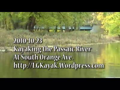 2010-10-23 Kayaking the Passaic River at South Orange Ave.