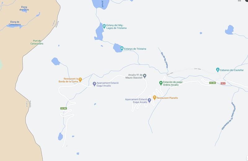 Google maps no muestra todas las pistas de todas las estaciones: ejemplo
