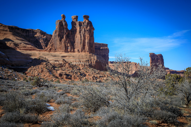 3 Wise Men in Arches NP