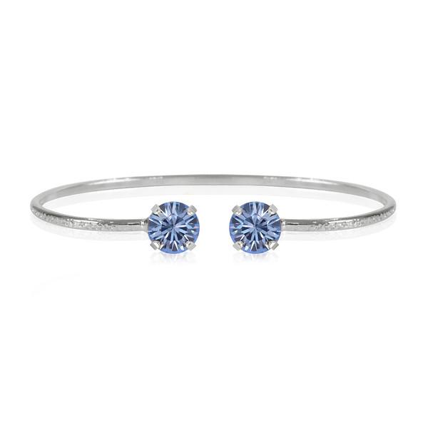 Classic Petite Bracelet / Light Sapphire Rhodium