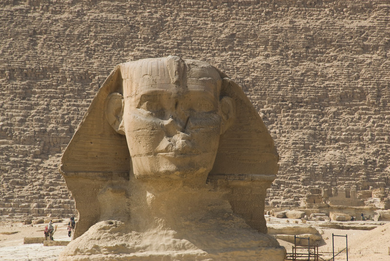 Front view of the Sphinx Head - Giza, Egypt