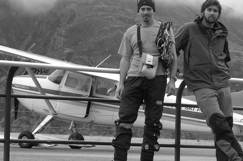 Trent (letft) and Andrew (right) just before the Upper Tasman Adventure