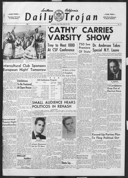 Daily Trojan, Vol. 45, No. 117, April 23, 1954