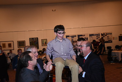 Maurice's evening bar mitzvah celebration at Mount Zion Temple