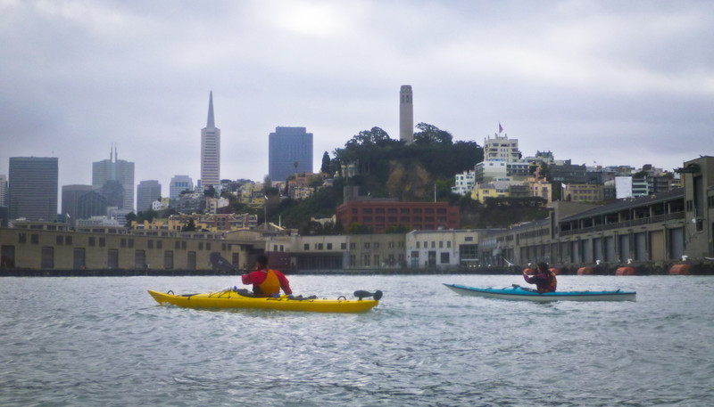 Another classic view of the city, from a unique kayaker's perspective.