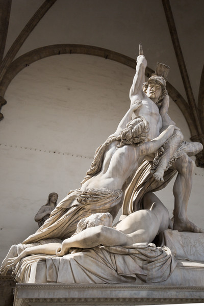 The Rape of Polyxena (Fedi, 1865) at Loggia dei Lanzi.