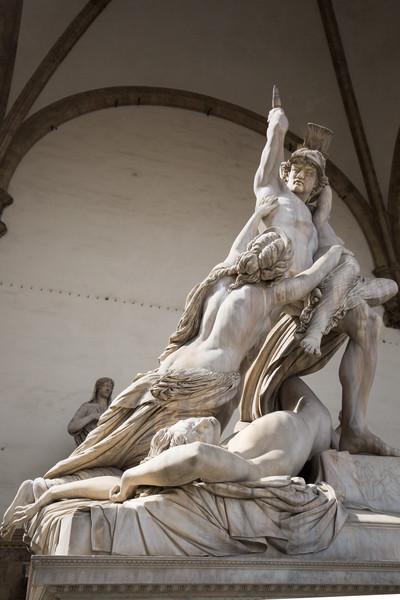 The Rape of Polyxena (Fedi, 1865) at Loggia dei Lanzi.