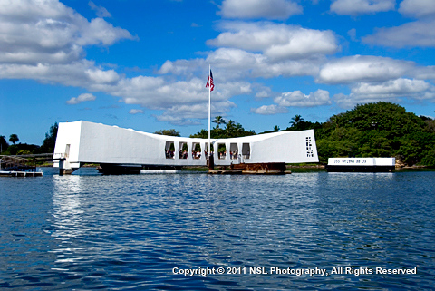 Arizona Memorial, Pearl Harbor, Honolulu, Hawaii, by NSL Photography