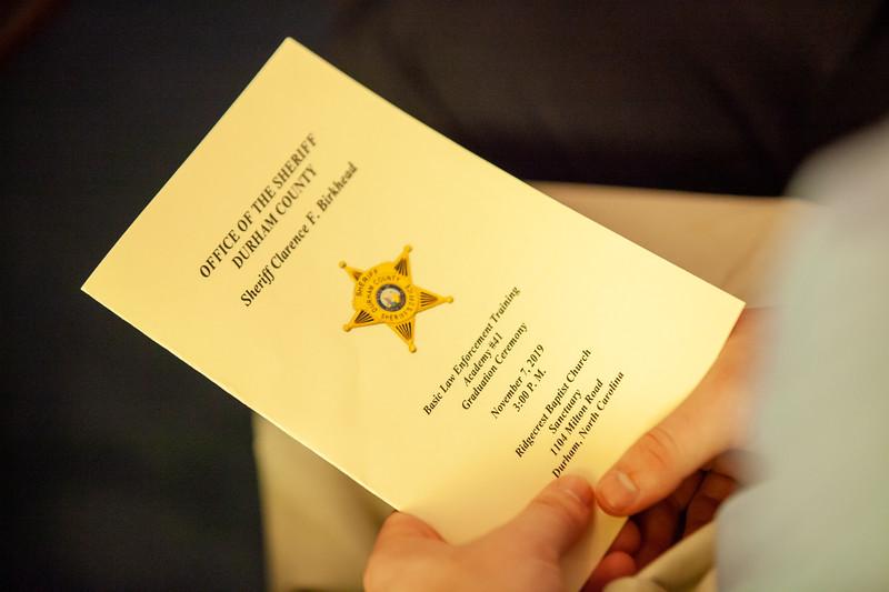 Durham County Sheriff Deputy Graduation 112019