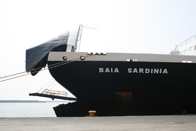 2008 - BAIA SARDINIA moored in Napoli during service on the route Napoli - Cagliari / Golfo Aranci.