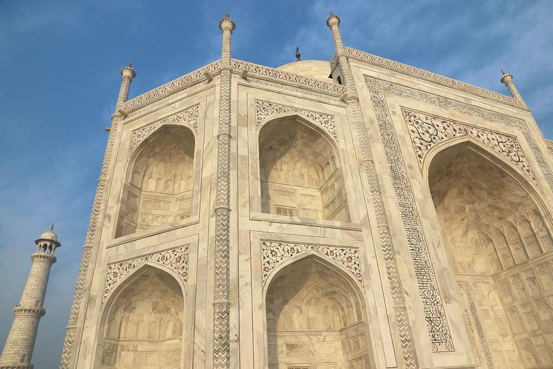 Gorgeous intricate detail of the Taj Mahal