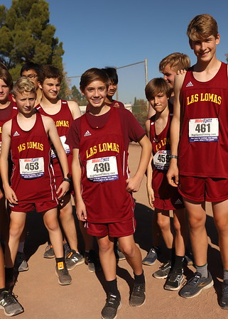 Nathan and Las Lomas Cross country team boys on 11-9-19