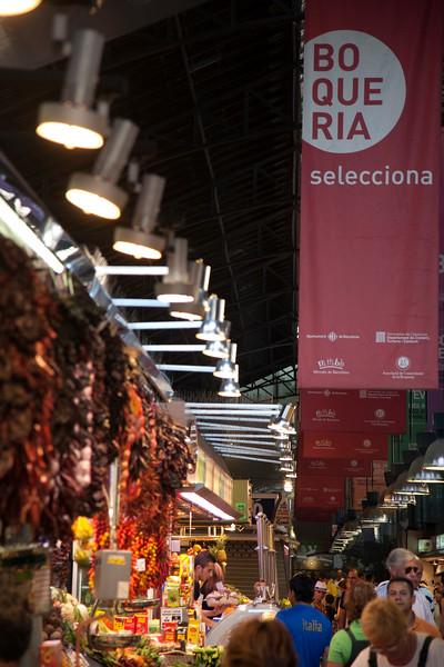 Boqueria market, town of Barcelona, autonomous commnunity of Catalonia, northeastern Spain