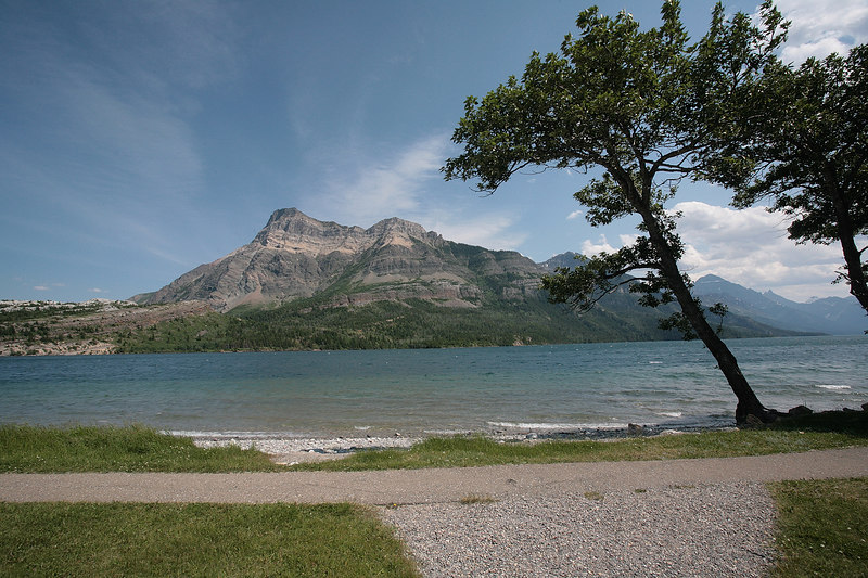 Glacier National Park - Waterton.  Waterton is in Canada.  It is an adjoining park that is a partner with Glacier National Park.