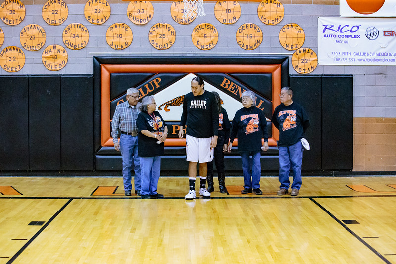 GHS Boys Basketball & Cheer Senior Night 2-18-17